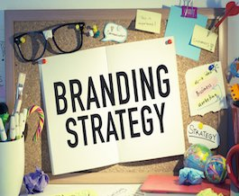 Business brand strategy concept background.